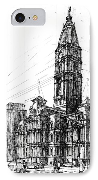 Philadelphia Town Hall IPhone Case by Krystian  Wozniak