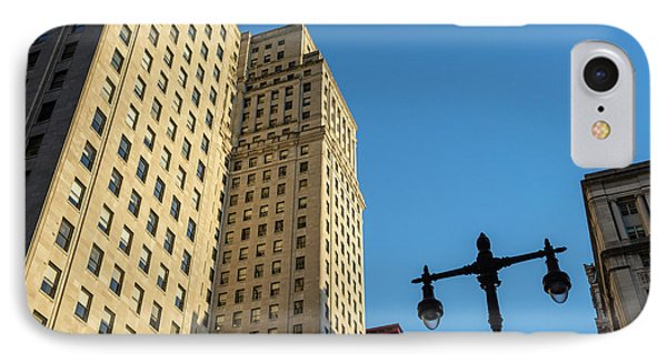 Philadelphia Urban Landscape - 0948 IPhone Case by David Sutton