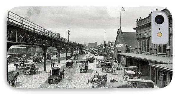 Philadelphia Waterfront  1908 IPhone Case by Daniel Hagerman