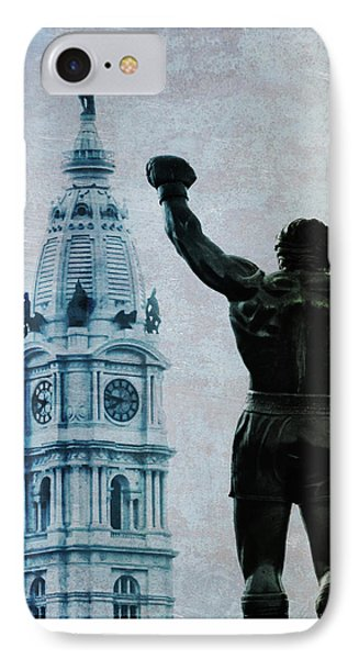 Philadelphias Champion - Rocky Balboa IPhone Case by Bill Cannon