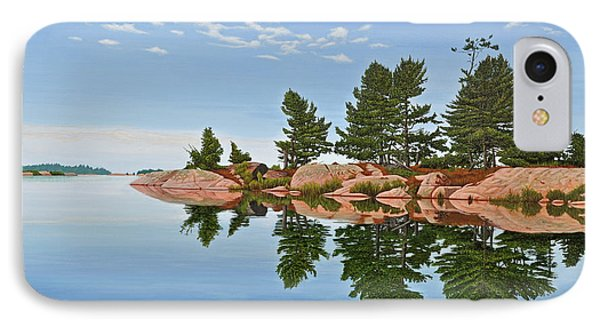 IPhone Case featuring the painting Philip Edward Island by Kenneth M Kirsch