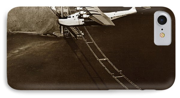 Philippine Clipper A Pan Am Clipper Over The Golden Gate Bridge  1935 IPhone Case by California Views Mr Pat Hathaway Archives