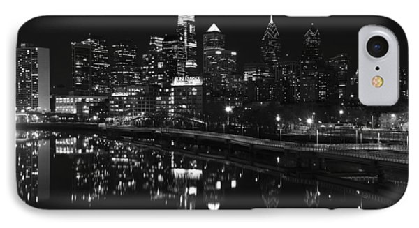 Philly And The Schuylkill Bw IPhone Case by Jennifer Ancker