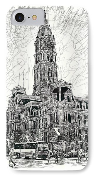 Philly City Hall IPhone Case by Michael Volpicelli