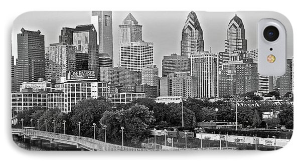 Philly Gray And White IPhone Case by Frozen in Time Fine Art Photography