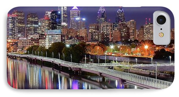 Philly In Panoramic View IPhone Case by Frozen in Time Fine Art Photography