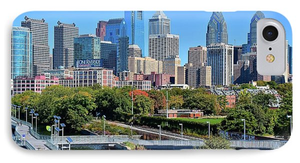 Philly With Walking Trail IPhone Case by Frozen in Time Fine Art Photography