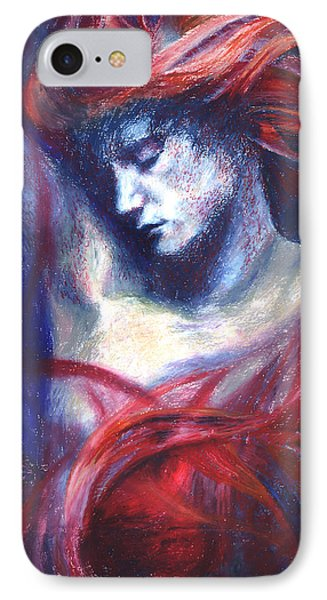 IPhone Case featuring the painting Phoenix Fire by Ragen Mendenhall