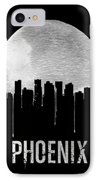 Phoenix Skyline Black IPhone 7 Case by Naxart Studio