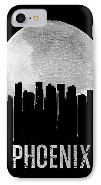 Phoenix Skyline Black IPhone Case by Naxart Studio