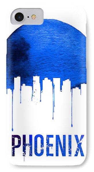 Phoenix Skyline Blue IPhone Case by Naxart Studio