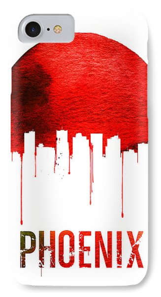 Phoenix Skyline Red IPhone 7 Case by Naxart Studio