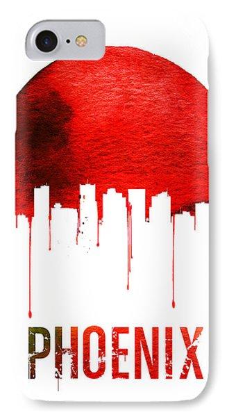 Phoenix Skyline Red IPhone Case by Naxart Studio