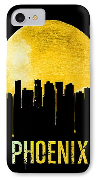 Phoenix Skyline Yellow IPhone Case by Naxart Studio
