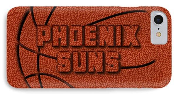 Phoenix Suns Leather Art IPhone Case by Joe Hamilton
