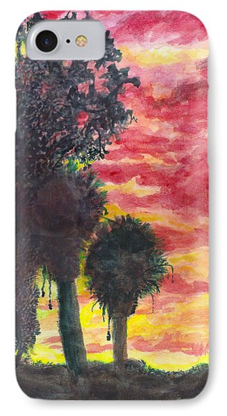 IPhone Case featuring the painting Phoenix Sunset by Eric Samuelson