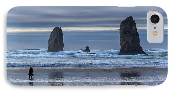 Photographer At Cannon Beach Phone Case by David Gn