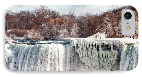IPhone Case featuring the photograph Niagara Winter by Gouzel -