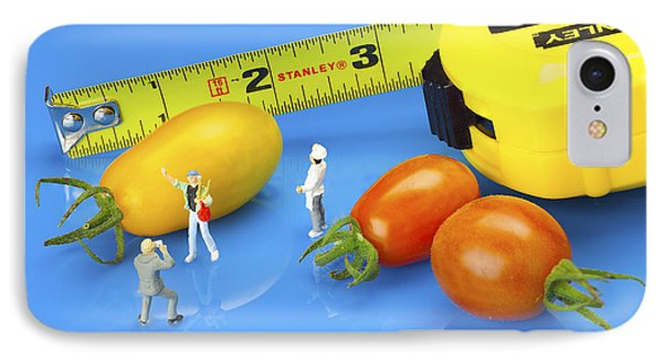 IPhone Case featuring the photograph Photography Of Tomatoes Little People On Food by Paul Ge