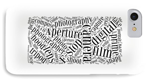 Photography Word Cloud IPhone Case by Edward Fielding
