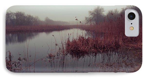 IPhone Case featuring the photograph Phragmites And Fog by Andrew Pacheco