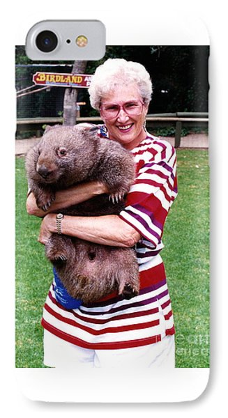 Phyllis Holding Thirty Lb Wombat Australia IPhone Case by Phyllis Kaltenbach