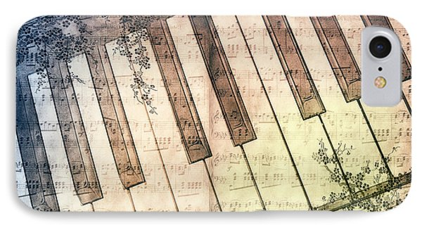 Piano Days Phone Case by Jutta Maria Pusl