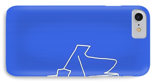 Piano In Blue Prints Available At IPhone Case by David Bridburg