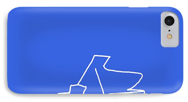 IPhone Case featuring the digital art Piano In Blue by Jazz DaBri