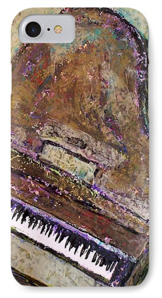 Piano In Bronze IPhone Case by Anita Burgermeister
