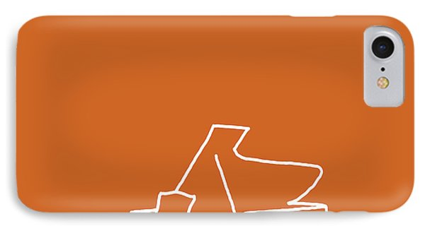 IPhone Case featuring the digital art Piano In Orange by Jazz DaBri