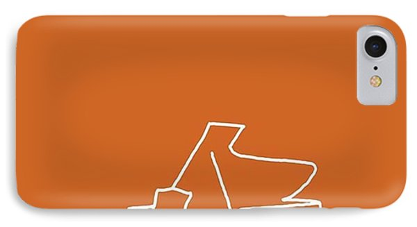 Piano In Orange Prints Available At IPhone Case by David Bridburg