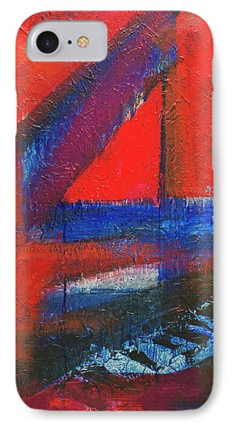 Piano In The Red Room IPhone Case by Walter Fahmy