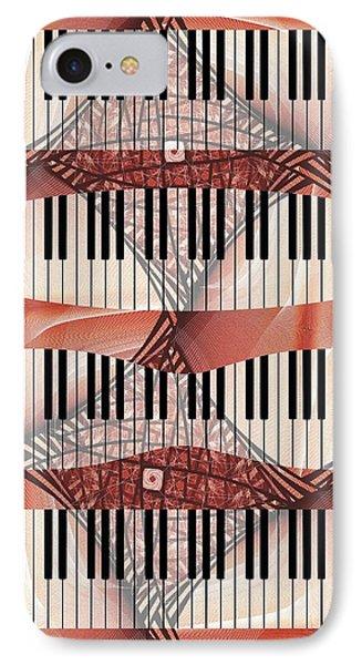 Piano - Keyboard - Musical Instruments IPhone Case by Anastasiya Malakhova