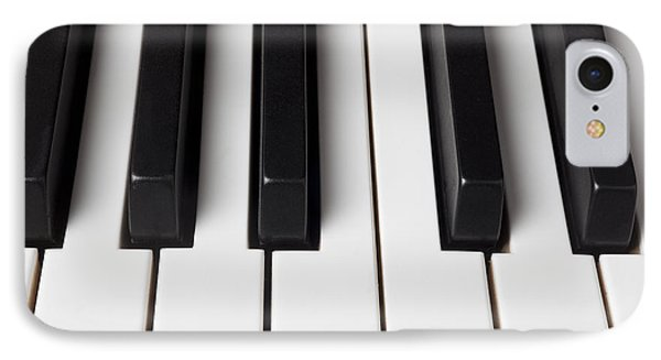 Piano Keys Close Up Phone Case by Garry Gay