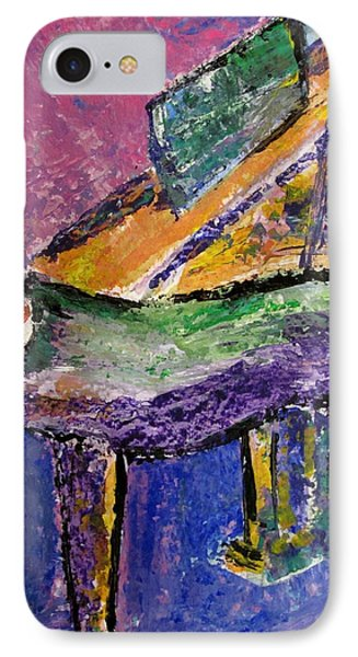 Piano Purple - Cropped IPhone Case by Anita Burgermeister