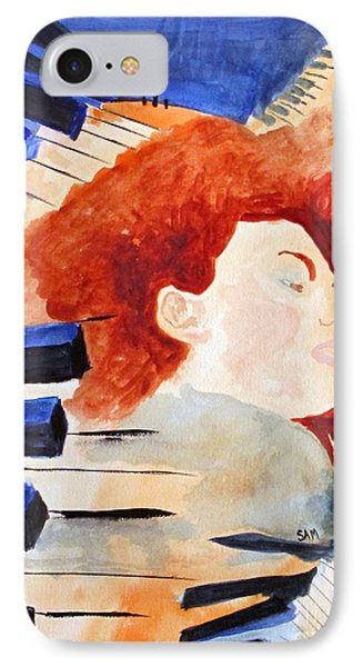IPhone Case featuring the painting Piano by Sandy McIntire