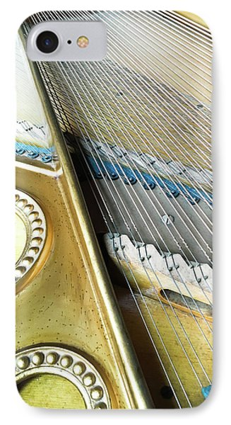 Piano Strings IPhone Case by Tom Gowanlock