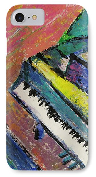 Piano With Yellow Phone Case by Anita Burgermeister