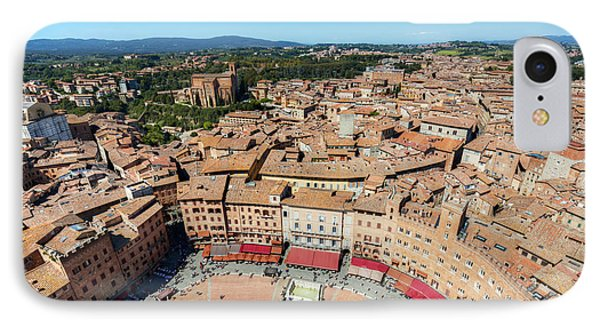 Piazza Del Campo, Campo Square In Siena, Tuscany, Italy IPhone Case
