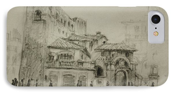 Piazza Fiume Rome IPhone Case by Ylli Haruni