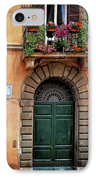IPhone Case featuring the photograph Piazza Navona House by Marion McCristall
