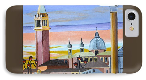 IPhone Case featuring the painting Piazza San Marco by Donna Blossom