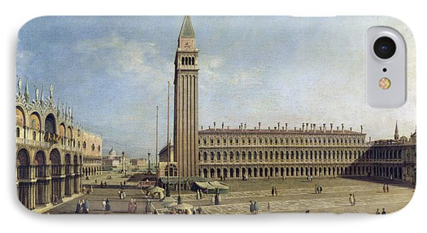 Piazza San Marco Venice  Phone Case by Canaletto