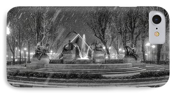 Piazza Solferino In Winter-1 IPhone Case by Sonny Marcyan