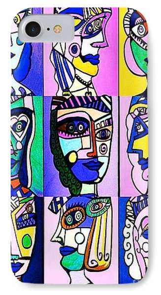 Picasso Blue Women IPhone Case