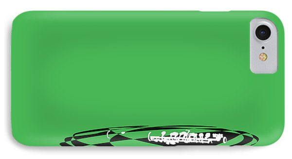 IPhone Case featuring the digital art Piccolo In Green by Jazz DaBri