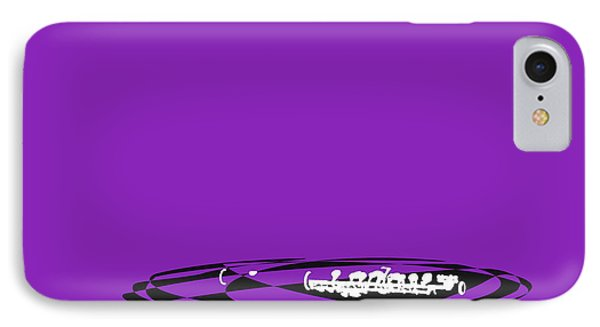 IPhone Case featuring the digital art Piccolo In Purple by Jazz DaBri