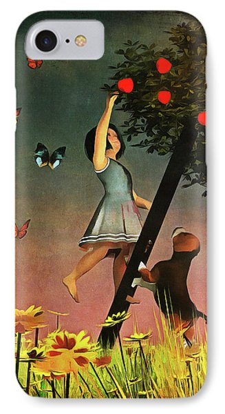 Picking Apples Together IPhone Case