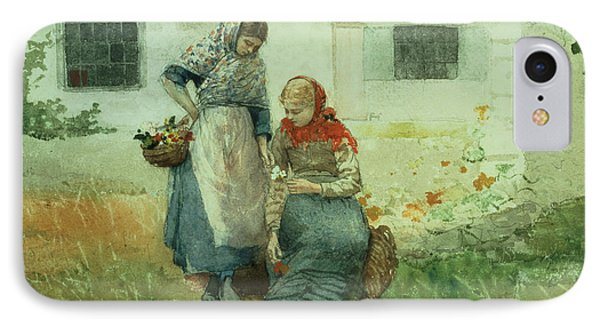Picking Flowers Phone Case by Winslow Homer